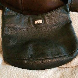 The Sak basic black leather bag